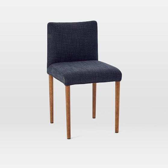 Ellis Side Chair, Yarn Dyed Linen Weave, Indigo ...