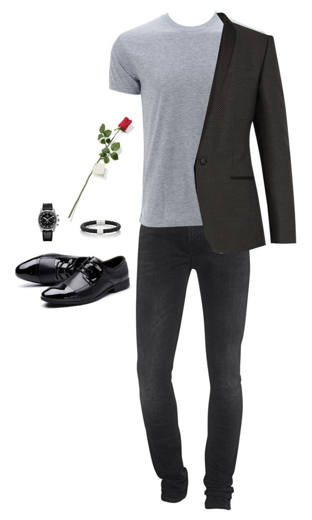 Valentine's Date Outfit (Men) by saskyyy on Polyvore featuring Simplex Apparel, 7 For All Mankind, Dolce&Gabbana, Zenith, Hanky Panky, Bottega Veneta, men's fashion and menswear