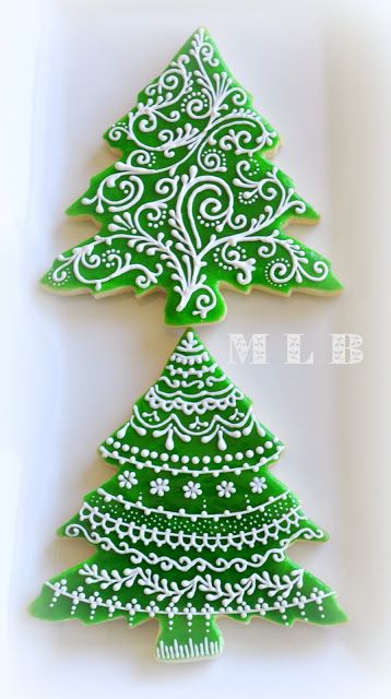 Christmas tree cookies...And polish-glaze recipe.. | http://cakecreationsforyou.blogspot.com | #christmas