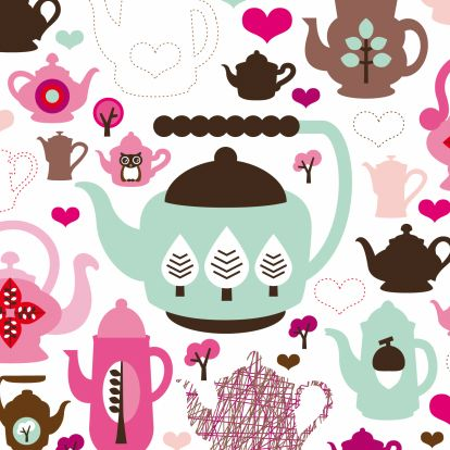 Uitnodigingen - Uitnodiging retro koffie patroon