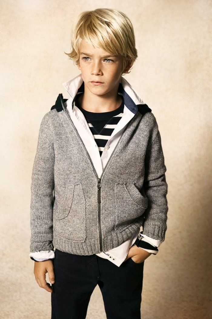 kinderfrisuren trendig blond mittellang modern