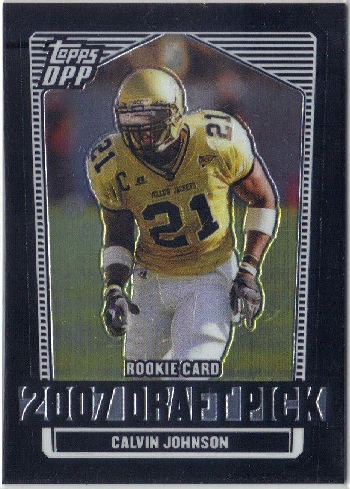 2007 Topps Draft Picks & Prospects Black Chrome #132 Lions Calvin Johnson