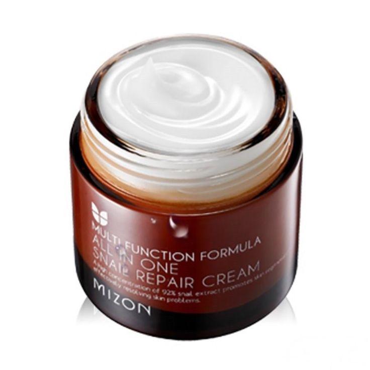 MIZON All In One Snail Repair Cream 75ml / Multi Function Formula Korea Cosmetic #Mizon #koreacosmetic #snail #snailcream #Antiaging
