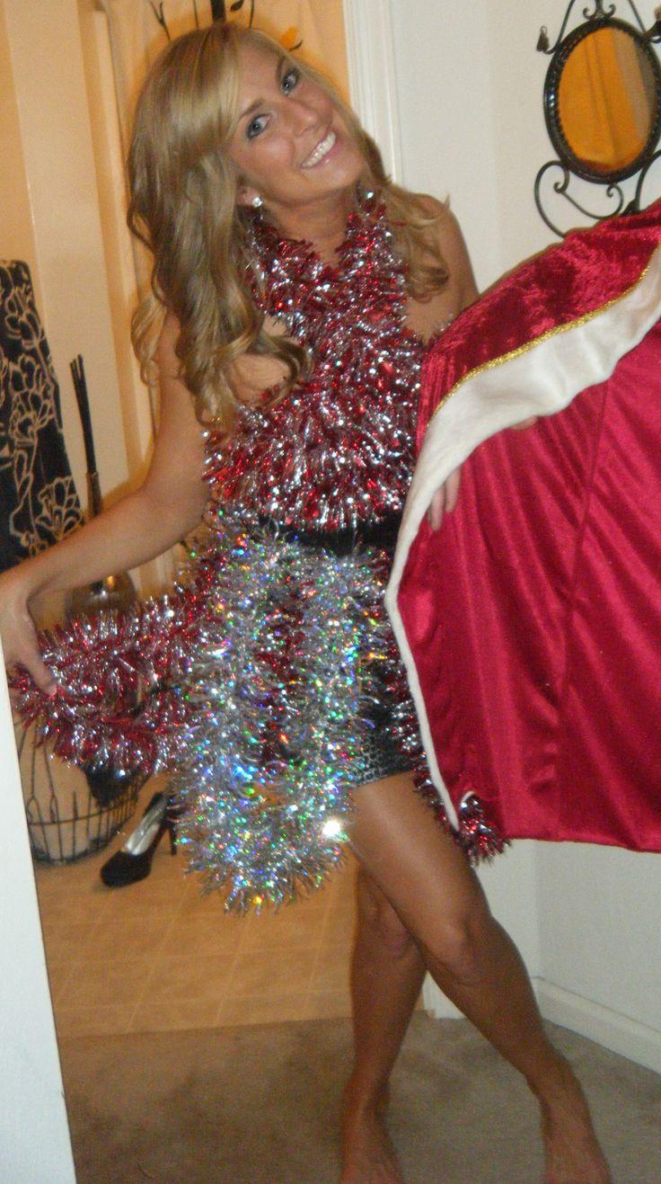 Tacky Christmas dress; better than a sweater!