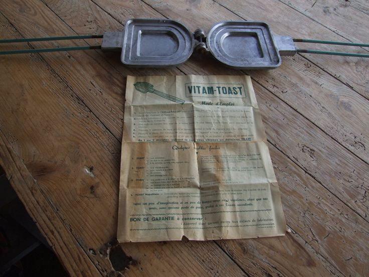 """Toasted Sandwich maker //  French """" Vitam-Toast"""" - pinned by pin4etsy.com"""