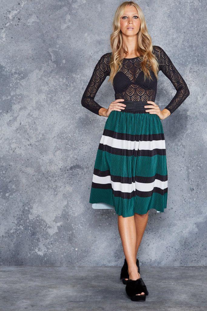 Liquorice Pleats Midi Skirt - CAPPED PRESALE ($80AUD) by BlackMilk Clothing