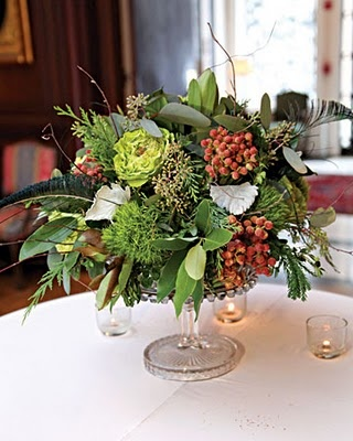 this a lovely and rustic mix of woodland greens and berries that might work well in the wooden boxes in the more Bavarian looking areas