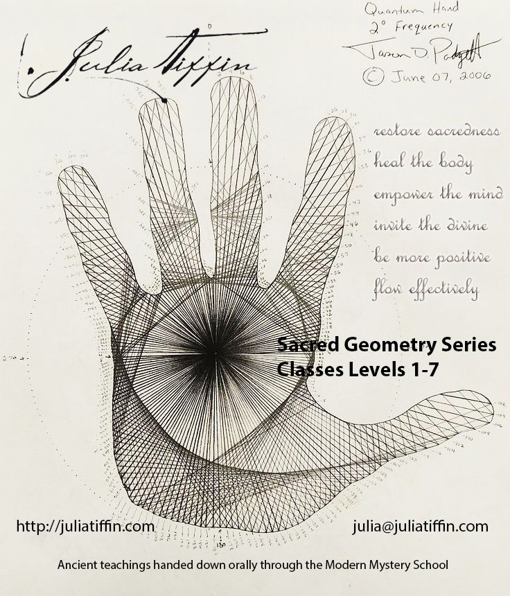 Learning the art of Sacred Geometry for practical results in your life! http://juliatiffin.com  #returntothesacred