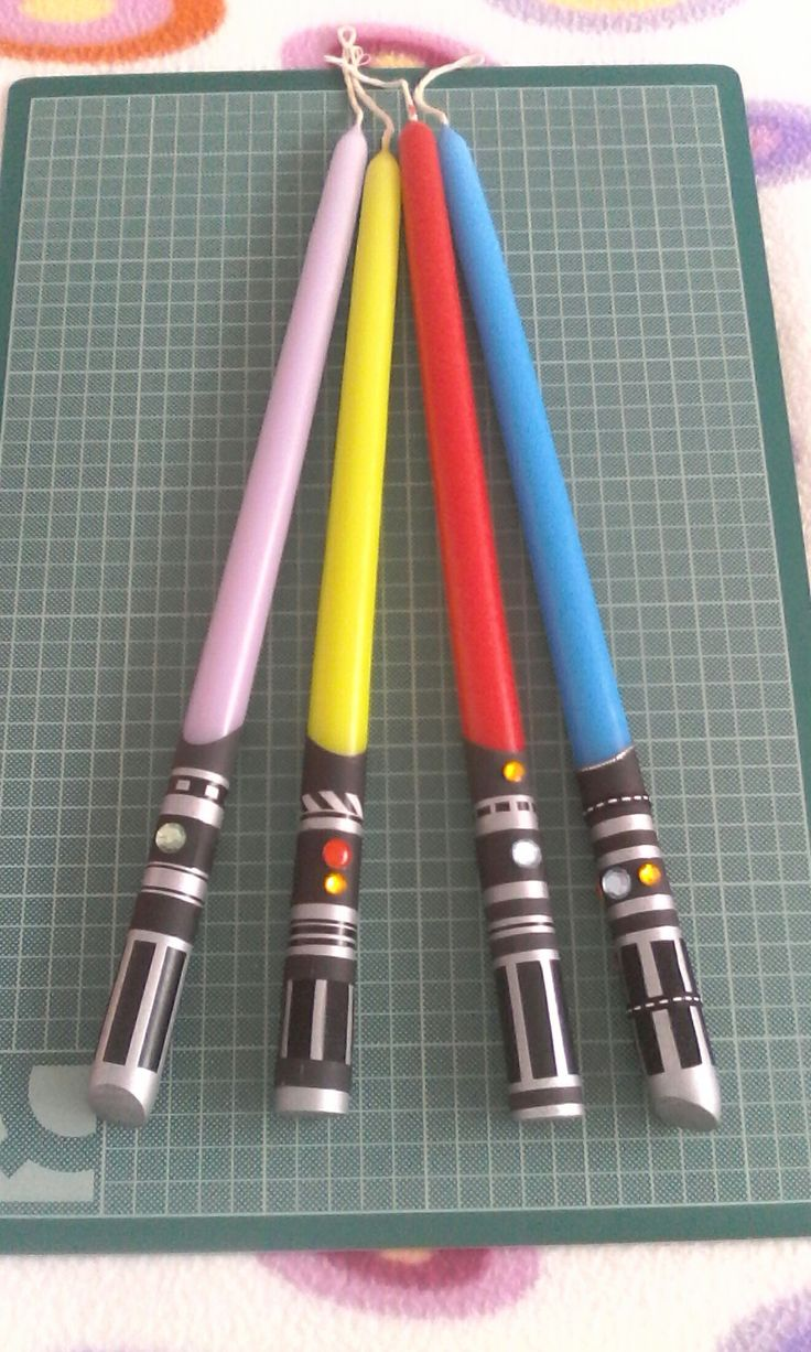 DIY Lightsaber easter candles