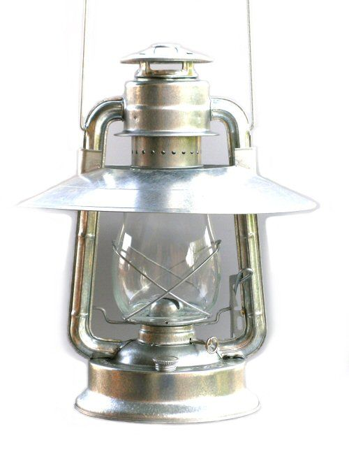 The reflector on this W.T. Kirkman Champion Oil Lantern captures all the wasted light, and focuses it under the lantern. Great for over a table or desk.