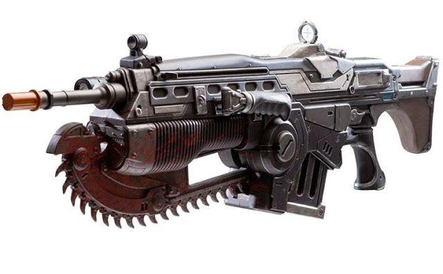 BLOG DOS BRINQUEDOS: Gears of War 4 Prop Replica Customized Lancer