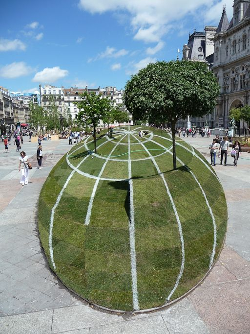 Definitely want to visit this while in Paris - it's a park designed to look like a massive optical illusion!
