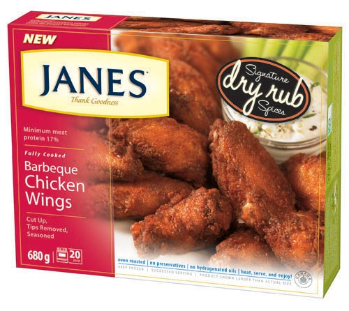 Who doesn't love wings? But, it can be expensive to go out for pub food all the time, so it's nice to know when that craving hits, or when the gang stops over for the game, Janes fully cooked Wings are ready and waiting in the freezer. Made with our Signature Dry Rub Spices, these Wings deliver on flavour without the saucy mess. Available in Buffalo, BBQ, and Sea Salt & Pepper. #product #chicken