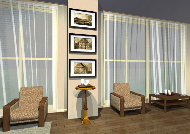 """Set of """"Country house"""" black-and-white photos in the interior design"""