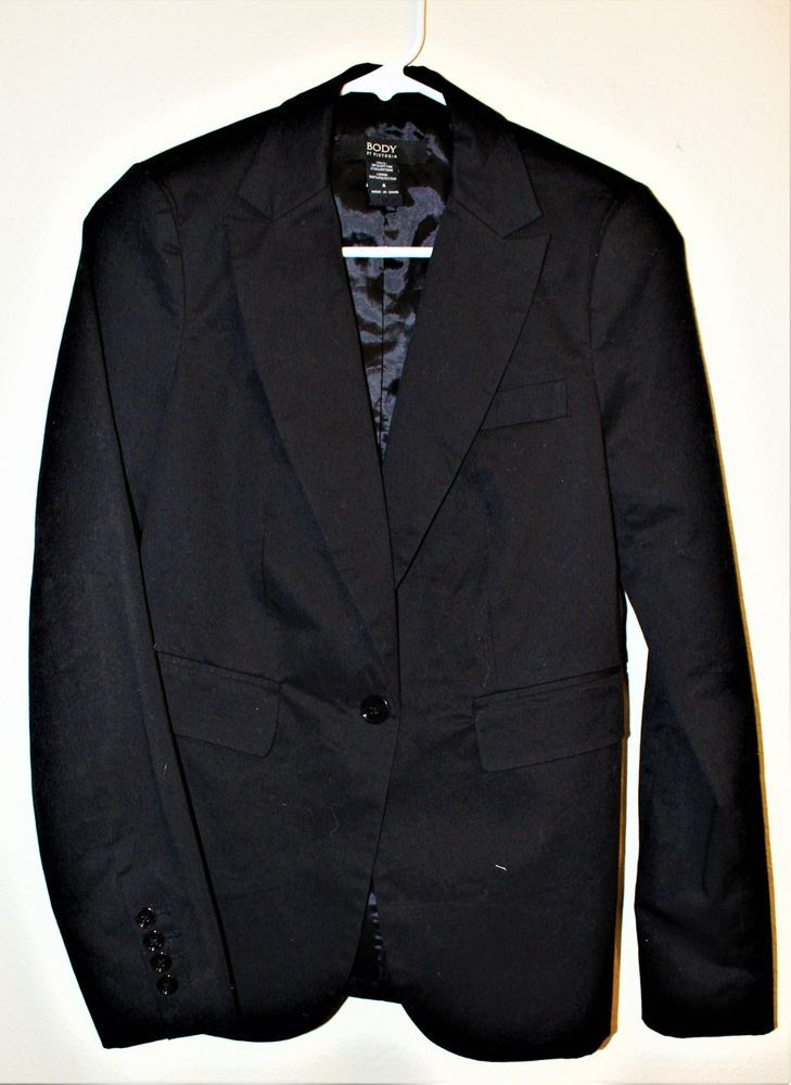 055b5576322bc Body by victoria Blazer Size 6 Black One Button Career victorias secret   fashion  clothing  shoes  accessories  womensclothing  suitssuitseparates  (ebay ...