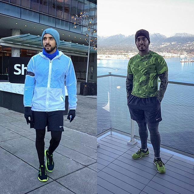 Wednesday, 30/12/2015  The Crown Prince of Dubai, His Highness Sheikh Hamdan bin Mohammed bin Rashid Al Maktoum and Mr. Ali Essa (photographer) in Vancouver, Canada   Source : ali_essa1