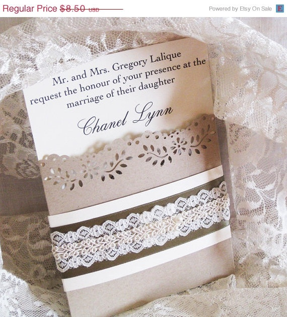 New Year Sale Lace Wedding Invitations French Market