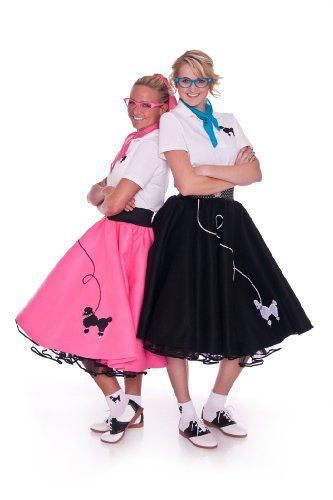 Hip Hop 50s Shop Adult 4 Piece Poodle Skirt Outfit Comfortdoc