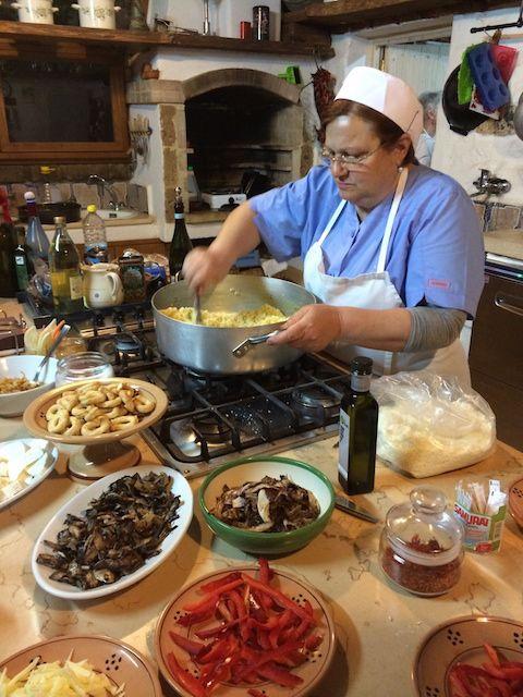 Learning cucina povera from Mamma.