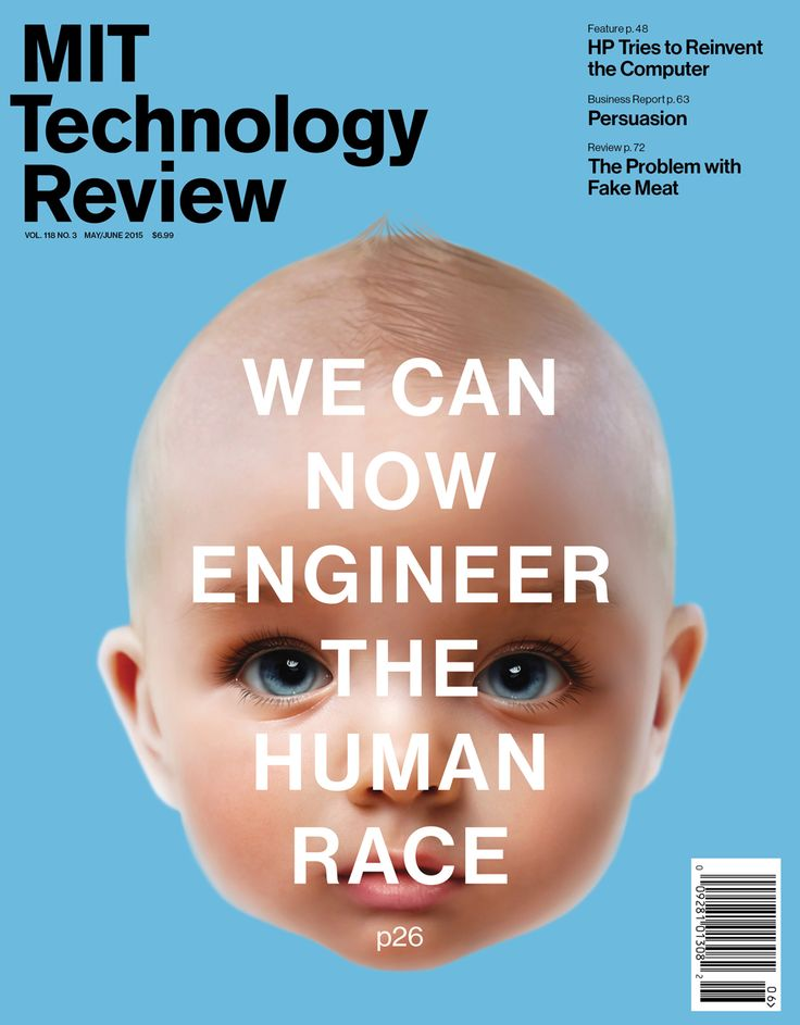 The cover of the May/June issue of MIT Technology Review. Designed by Nick Vokey.