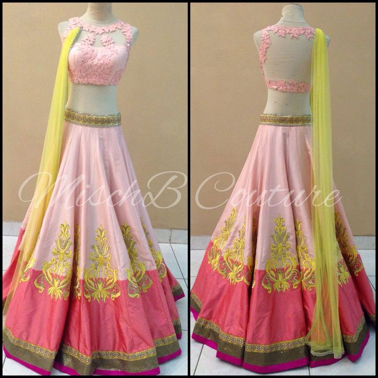 Stunning Baby Pink #Lehenga By Misch B Couture.