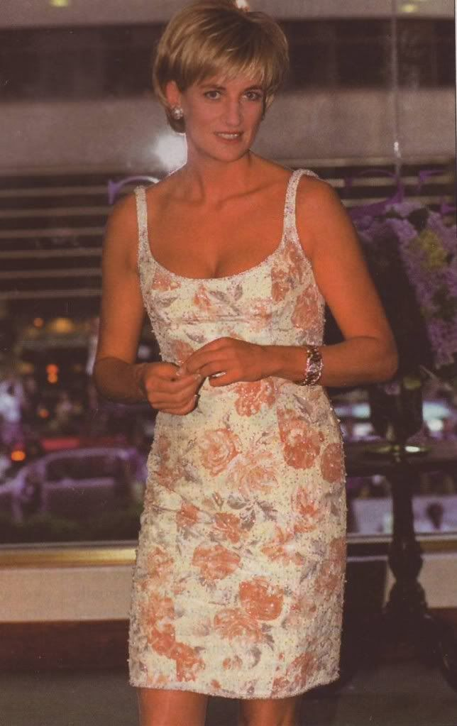 23 June 1997: Diana, Princess of Wales at Christies Auction House In New York City for the sale of her 79 dresses.