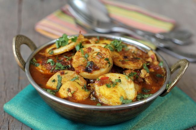Egg Slice Masala - South Indian style egg curry