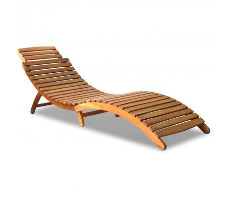 Inklapbare ligstoel voor in de tuin (acacia hout); 115,99 euro