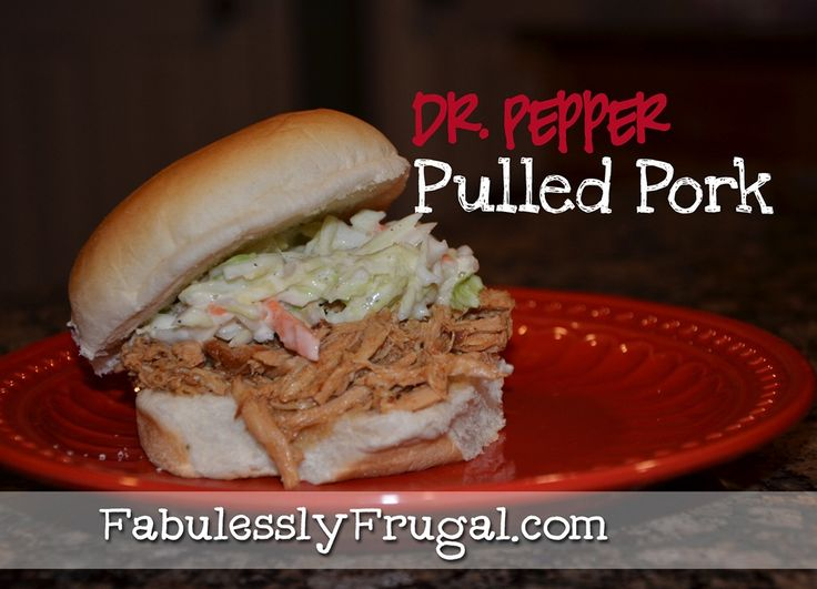 Dr. Pepper Pulled pork, just 4 simple ingredients.