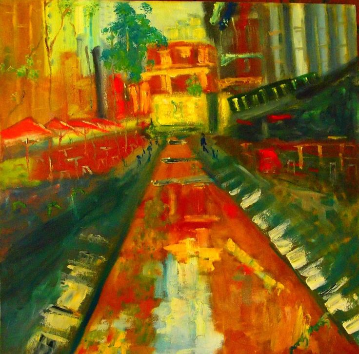 """""""Melbourne City Square VIC"""" by Margaret Morgan (Watkins). Paintings for Sale. Bluethumb - Online Art Gallery"""