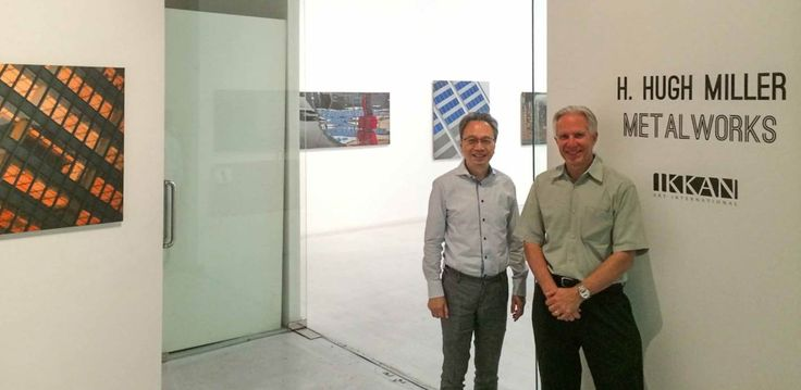 """We are just one day away from the opening reception of """"MetalWorks"""" at the Ikkan Art International in Singapore! Pictured, H Hugh Miller joins Ikkan Art Gallery Director, Ikkan Sanada! #fineart #photography #Singapore"""