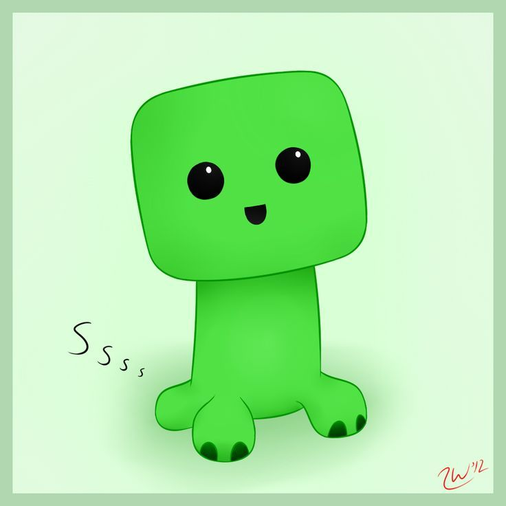 minecraft cute baby creeper - Google Search