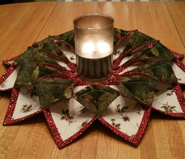 311 Best Folded Fabric Ornaments Images On Pinterest