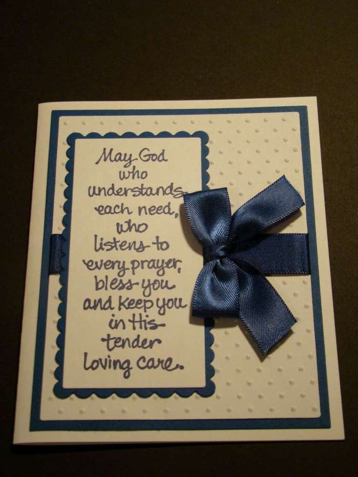 Handmade god bless greeting card you choose colors