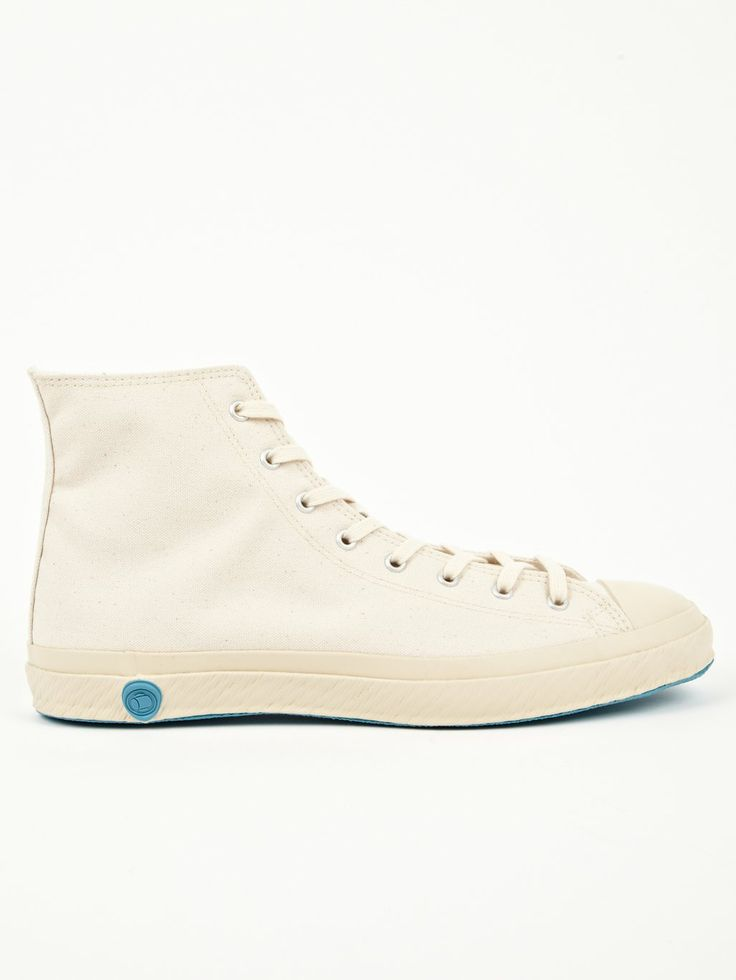 Shoes Like Pottery Mens Off-White High Top Sneakers