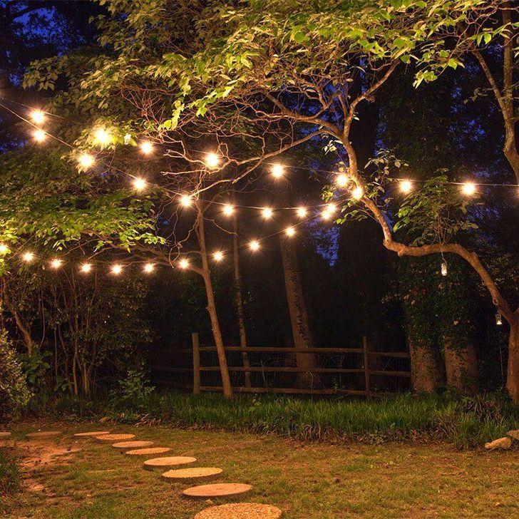 30 Easy And Cheap Diy Light For Stunning Home Outdoor Ideas Jessica Cory Cheap Cory Di Solarleuchten Garten Landschaftsbeleuchtung Lichterkette Draussen