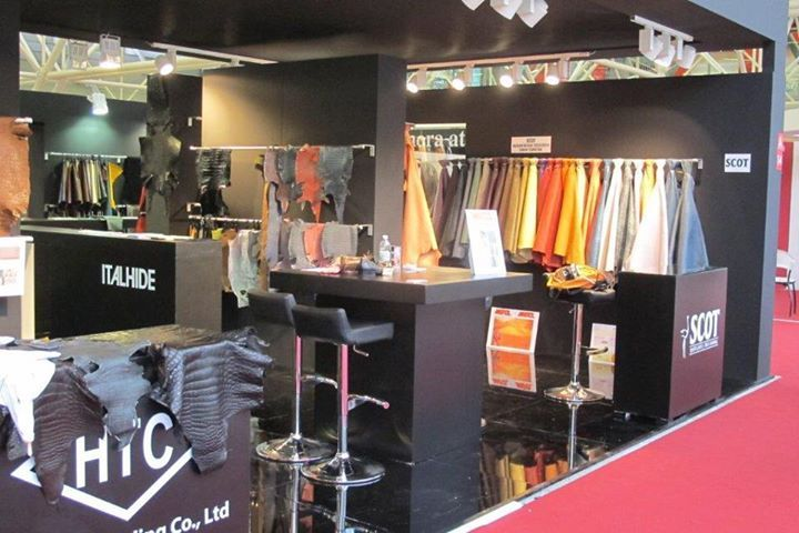 The stand we shared with our European agents, Italhide SpA, at the recent Le Cuir in Paris.