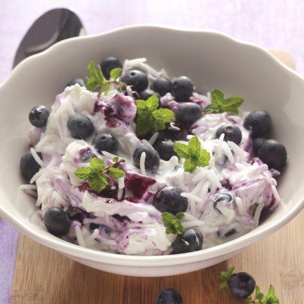 Genieten en geen honger hebben! Blauwe bessen met kwark en rijst #telvrij #WeightWatchers #WWrecept