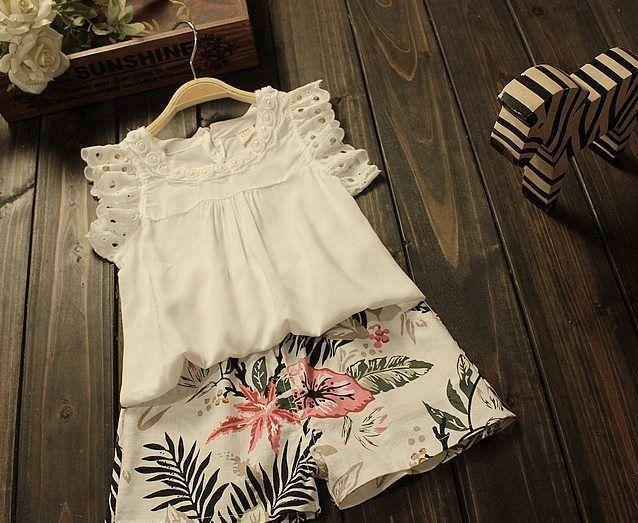 Floral fluffy themed summer girl set - Clarisse