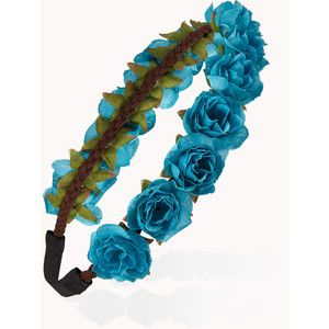 blue flower crown transparent - Google Search