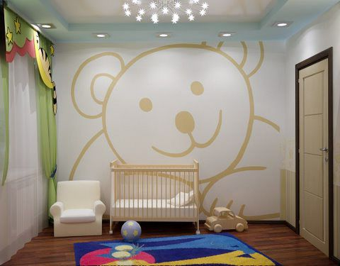 girls room paint ideas pictures baby room wall 300x234 Creative
