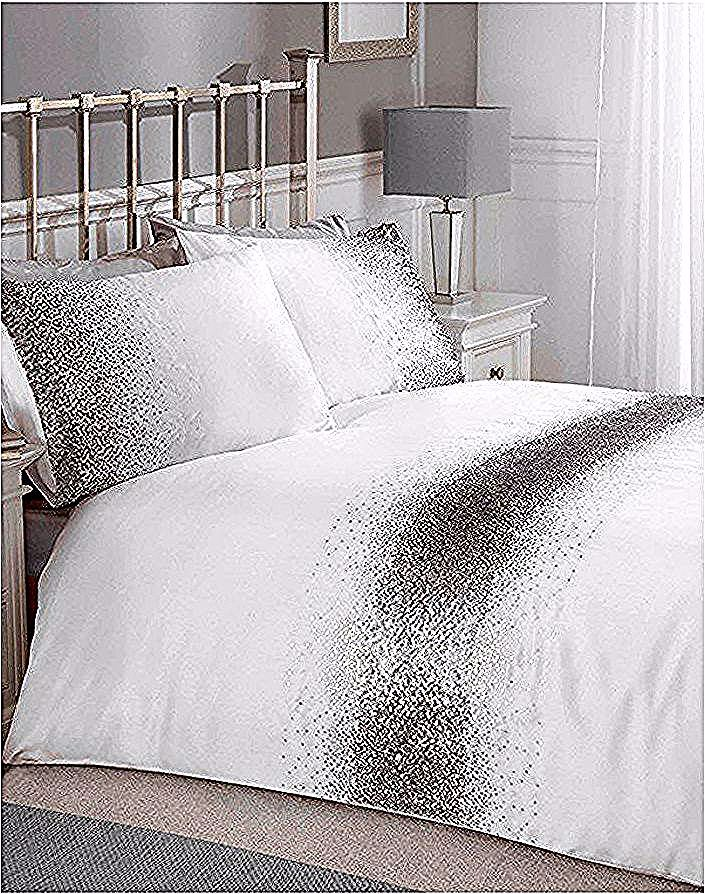 This Shimmer Sequin Silver Double Duvet Cover Set Has A Luxurious Feel With Stunning Silver Sequin Detailing In 2020 Duvet Cover Sets Double Duvet Covers Double Duvet