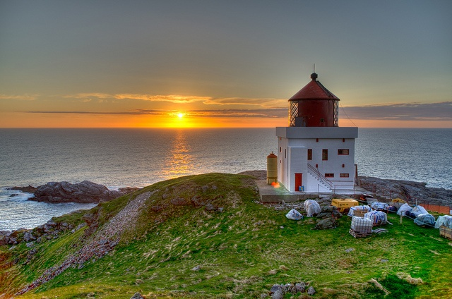 Sunset at Runde fyr, Norway. by JKennedy2012, via Flickr