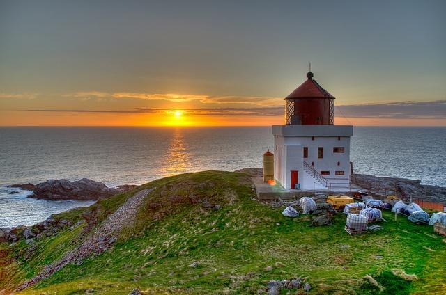 Sunset at Runde fyr, Norway. by JKennedy2012, via Flickr