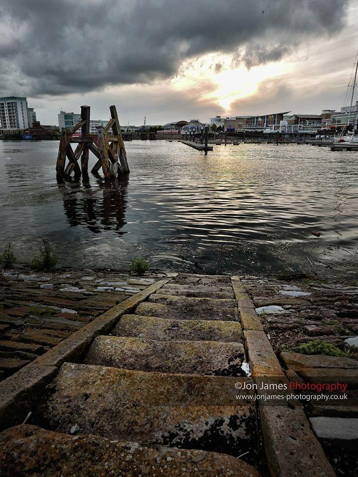 Steps at Cardiff Bay, by Jon James Photography.