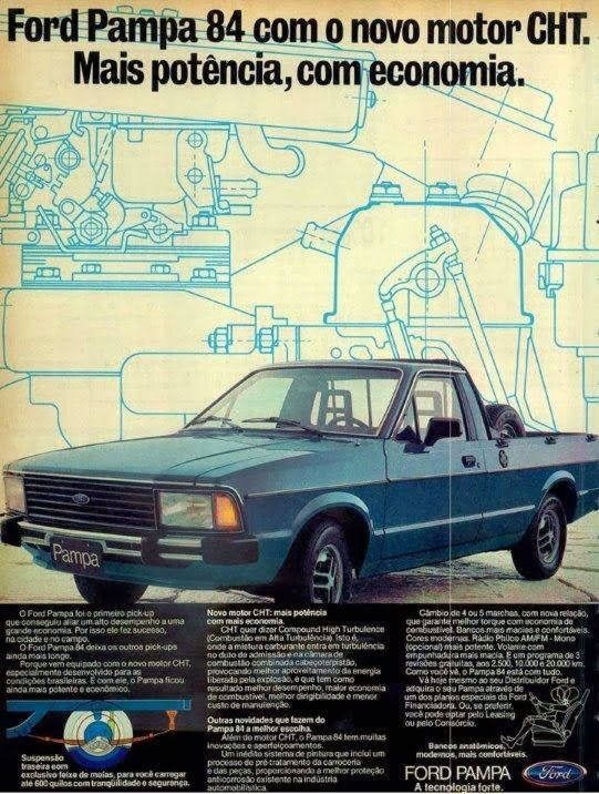Propaganda do Ford Pampa em 1984