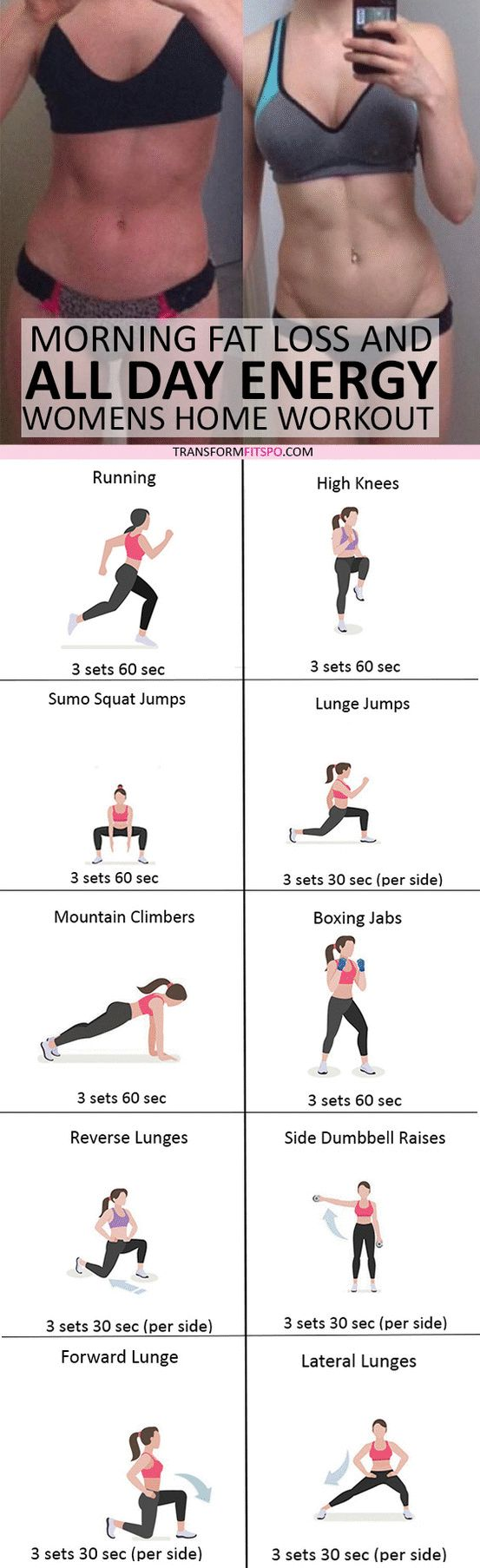 #womensworkout #workout #femalefitness Repin and share if this workout gave you all day energy! Click the pin for the full workout.