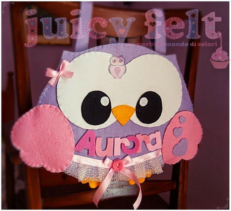 Juicy felt: Un portapigiama per Aurora