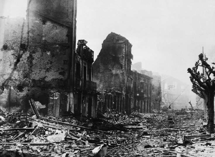 On April 26, 1937, German and Italian warplanes destroyed the Spanish city of Guernica. It was the first such large-scale bombing of a civilian target, and it presaged the massive destruction visited from the air during World War II. This image was taken on May 8, 1937.