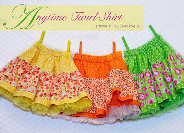 Sewlovele: Anytime Twirl Skirt Tutorial